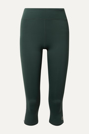 Tory Sport Cropped striped stretch leggings