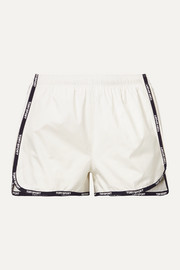 Tory Sport Banner printed shell shorts
