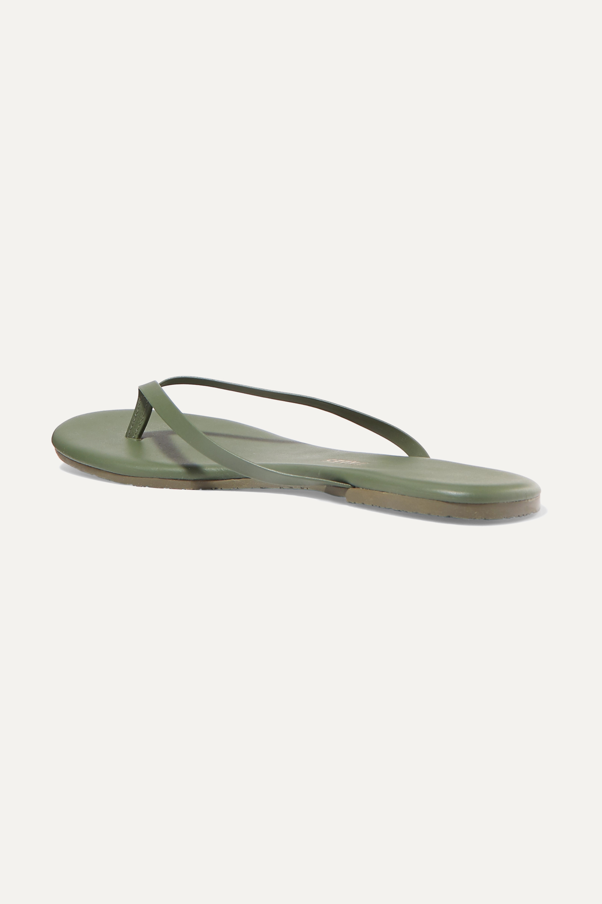 TKEES Solids leather flip flops