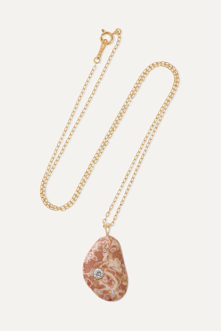 CVC Stones Tantalize Kette aus 18 Karat Gold mit Kieselstein und Diamanten