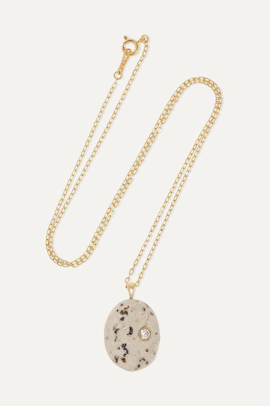 CVC Stones Sale e Pepe Kette aus 18 Karat Gold mit Stein und Diamanten