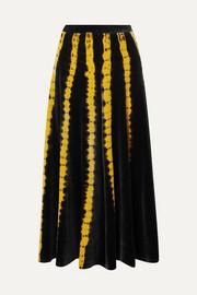 프로엔자 슐러 타이다이 벨벳 미디 스커트 ('슈스스TV' 한혜연 착용) Proenza Schouler Tie-dyed stretch-velvet midi skirt
