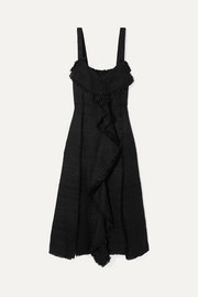 Proenza Schouler Ruffled tweed midi dress