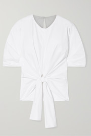 Proenza Schouler Tie-front stretch-cotton poplin top