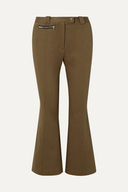 Proenza Schouler Cropped cotton-blend twill flared pants