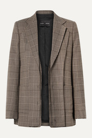 Proenza Schouler Oversized layered checked wool-blend blazer