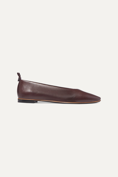 BOTTEGA VENETA | Bottega Veneta - Leather Ballet Flats - Brown | Goxip