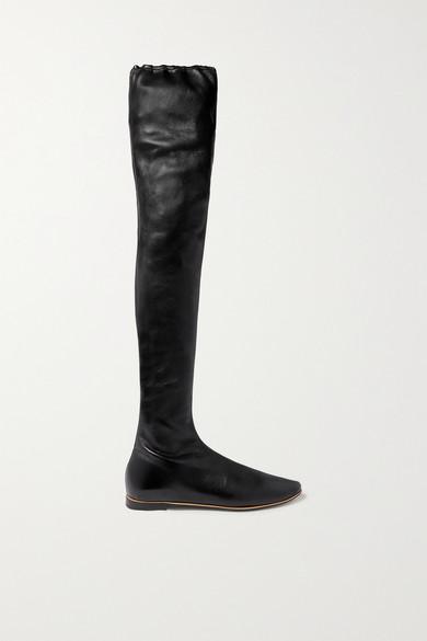 Leather Over The Knee Boots by Bottega Veneta