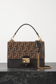 Fendi Kan I large embossed leather shoulder bag