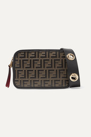 Fendi Embossed leather camera bag