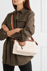 Fendi By The Way small two-tone canvas and leather shoulder bag
