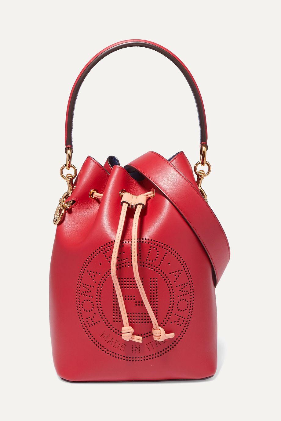 Fendi Mon Trésor perforated leather bucket bag