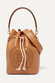 Mon Trésor perforated leather bucket bag