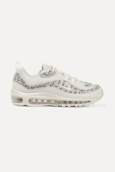 new product b6d20 411e9 Air Max 98 LX faux leather-trimmed embellished PVC and mesh sneakers