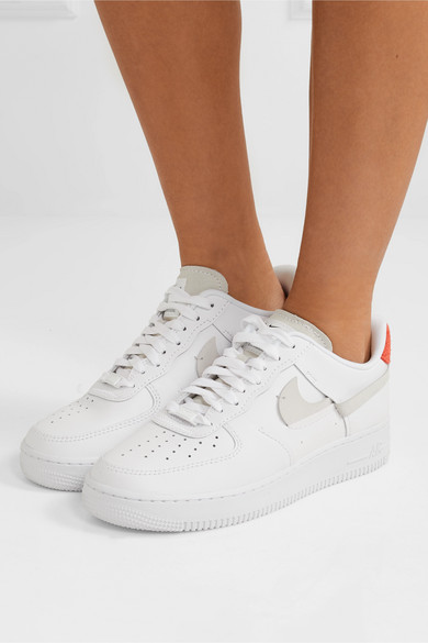 Nike | Air Force 1 LX suede trimmed leather sneakers | NET A