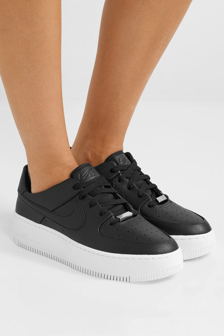 Air Force 1 Sage textured-leather sneakers