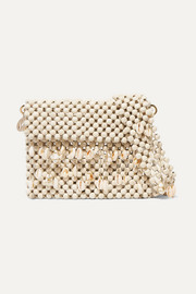 Rosantica Idra shell-embellished beaded shoulder bag