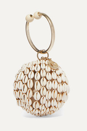 Rosantica Lira gold-tone, bead and shell tote