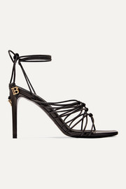 Balmain Mikki knotted leather sandals