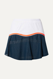Stretch-jersey and pointelle-knit tennis skirt