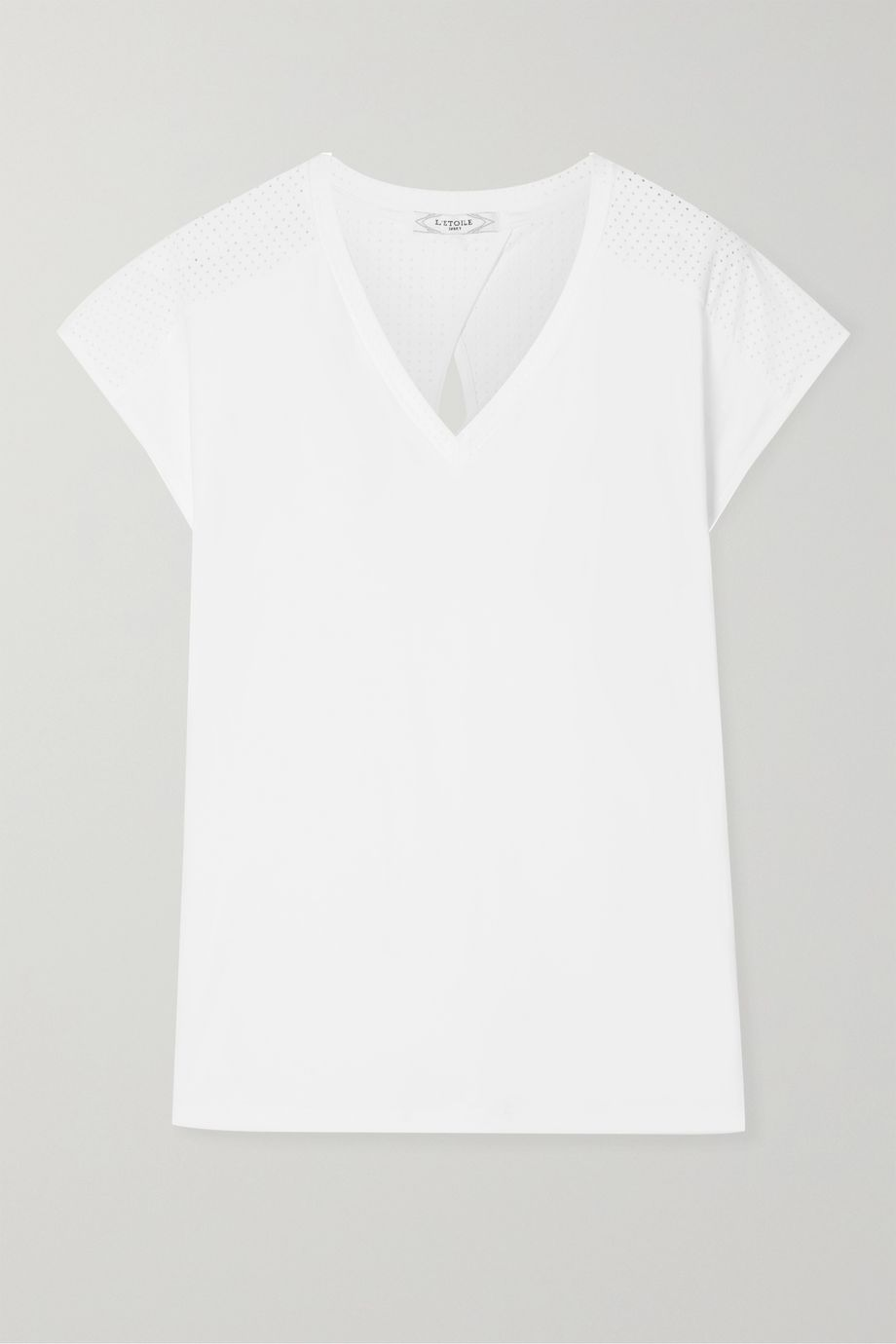 L'Etoile Sport Performance perforated stretch-jersey tennis T-shirt