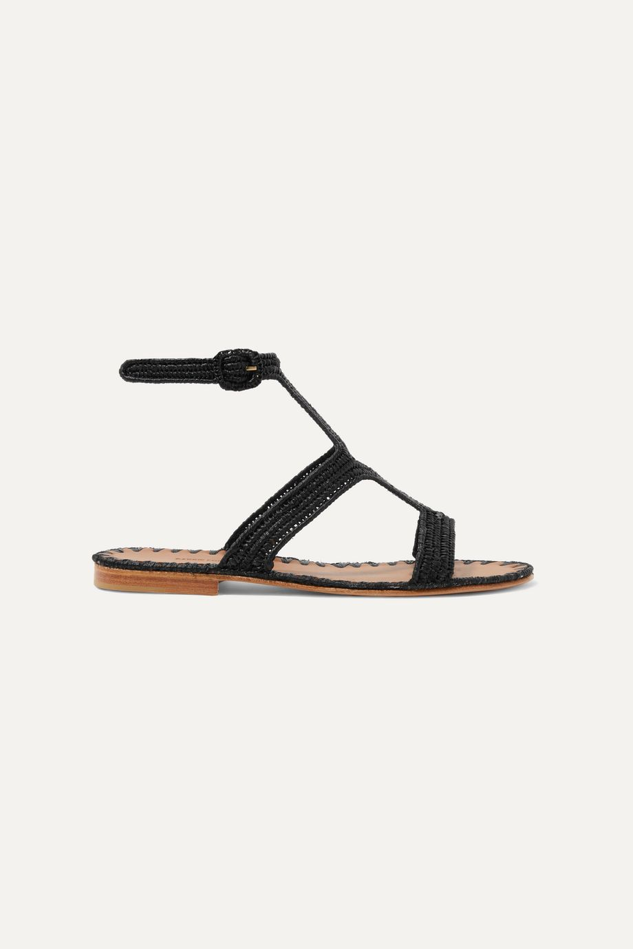 Carrie Forbes Hind woven raffia sandals