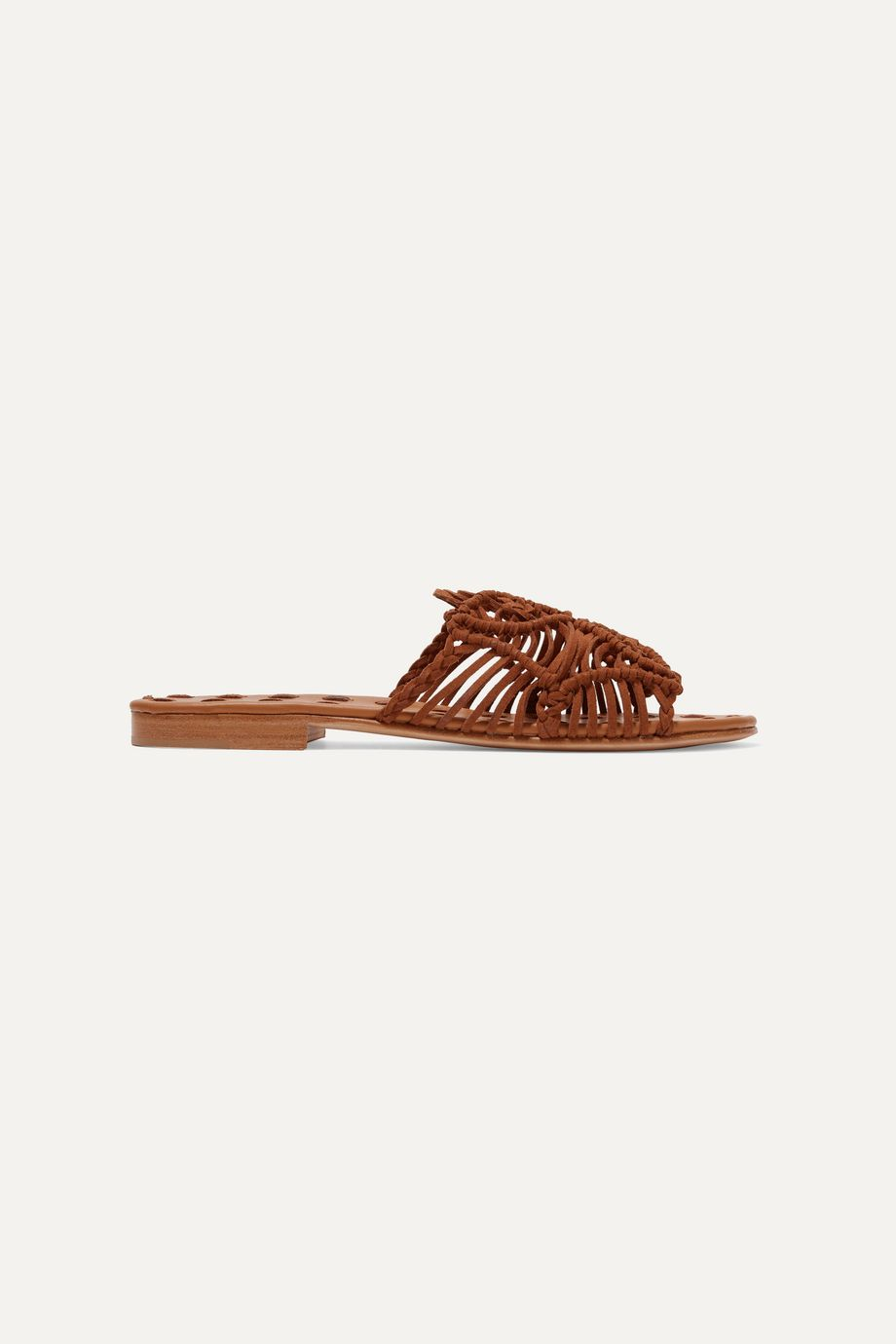 Carrie Forbes Rosa woven suede slides