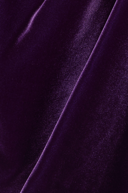 TOM FORD Twist-front velvet mini dress