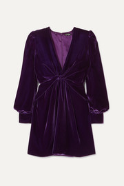 TOM FORD Twist-front velvet mini dress