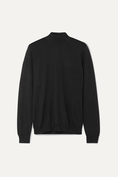 TOM FORD | TOM FORD - Cashmere And Silk-Blend Turtleneck Sweater - Black | Goxip