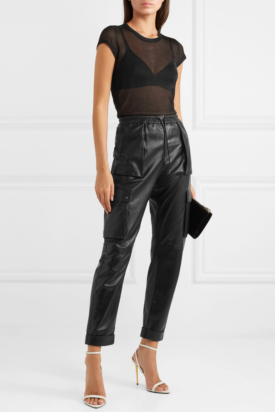 TOM FORD Metallic knitted top