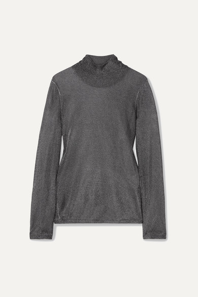 Tom Ford Tops Metallic stretch-knit turtleneck top
