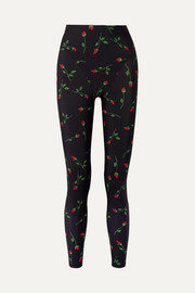 Floral-print stretch leggings