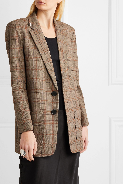 Tibi James embellished checked woven blazer