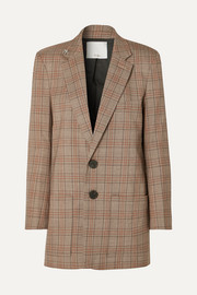 James embellished checked woven blazer