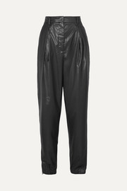 Pleated shell tapered pants