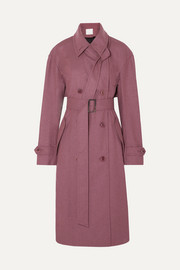 Tibi Double-breasted felt trench coat