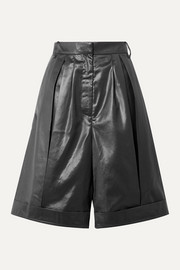 Pleated shell shorts