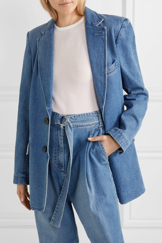 Tibi Oversized stretch-denim blazer