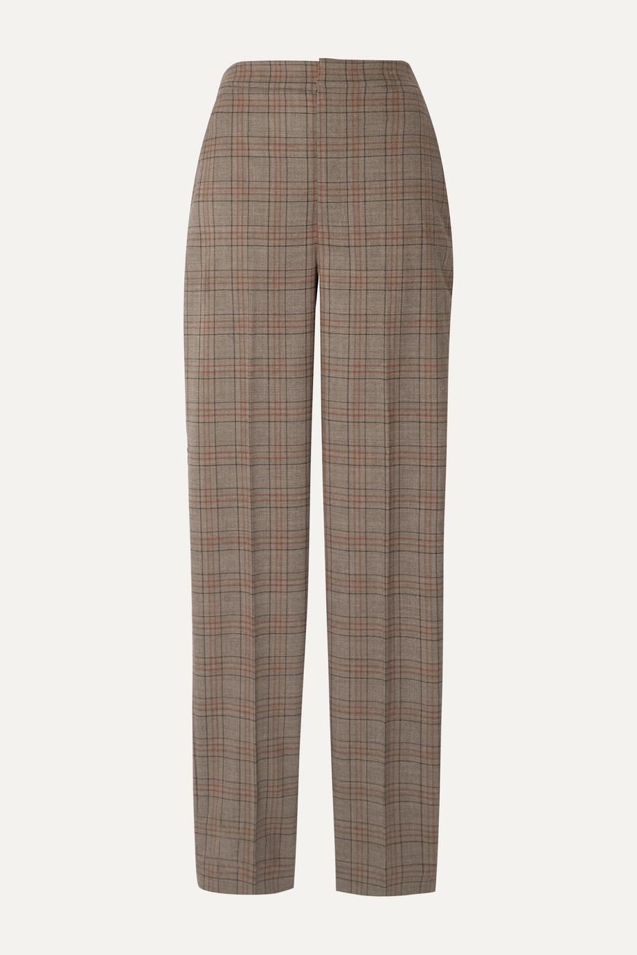 Tibi Sebastian checked woven straight-leg pants