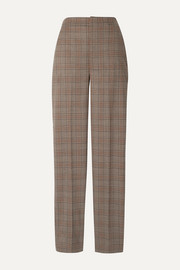 Tibi Sebastian checked woven straight-leg pants