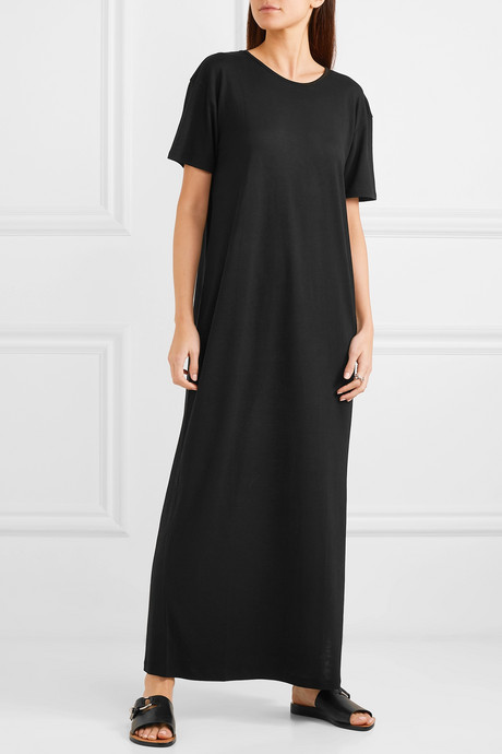 + NET SUSTAIN open-back Tencel maxi dress