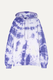 Ninety Percent + NET SUSTAIN tie-dyed organic cotton-jersey hoodie