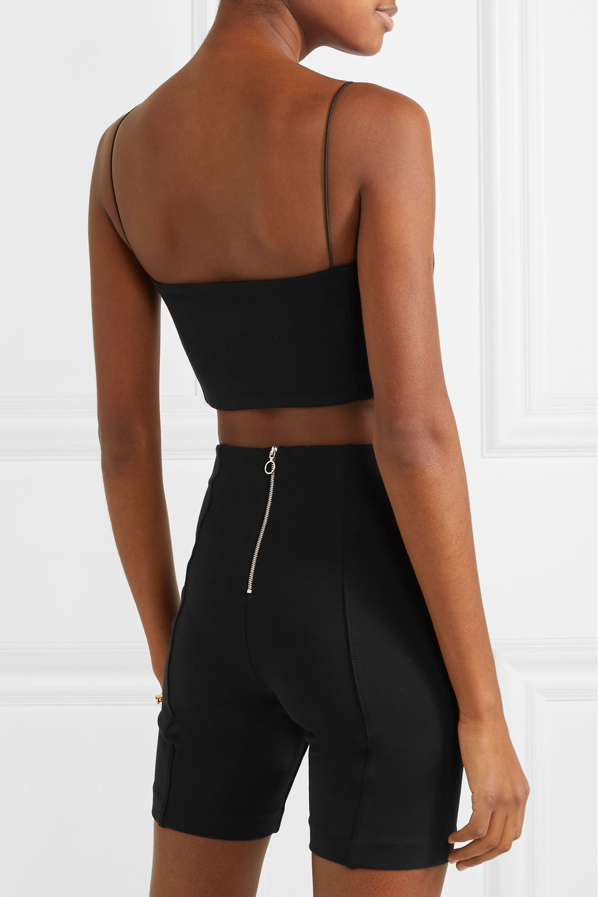 Ninety Percent + NET SUSTAIN cropped stretch-jersey top