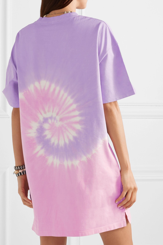 Ninety Percent Tie-dyed organic cotton-jersey mini dress