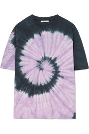 Ninety Percent + NET SUSTAIN oversized tie-dyed organic cotton-jersey T-shirt