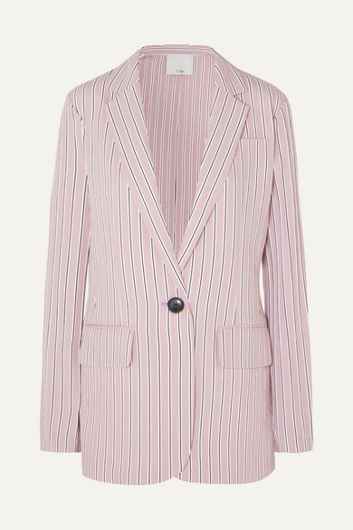 Tibi  Oversized striped twill blazer
