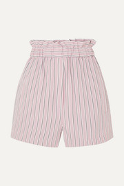 Tibi Striped twill shorts