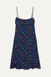 STAUD Bellini printed crepe dress