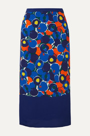 STAUD Moulette printed voile midi skirt